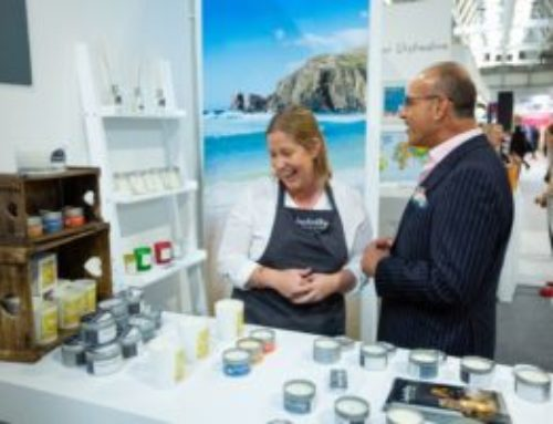 Meeting Theo Paphitis and supporting small business at the Autumn Fair