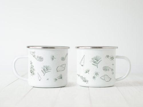 Enamel mug large print