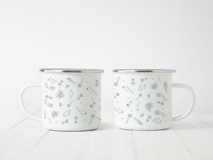 Enamel mug small print