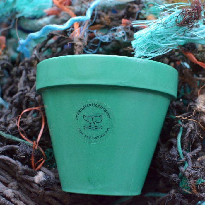 Dark Green Ocean Plastic Pot