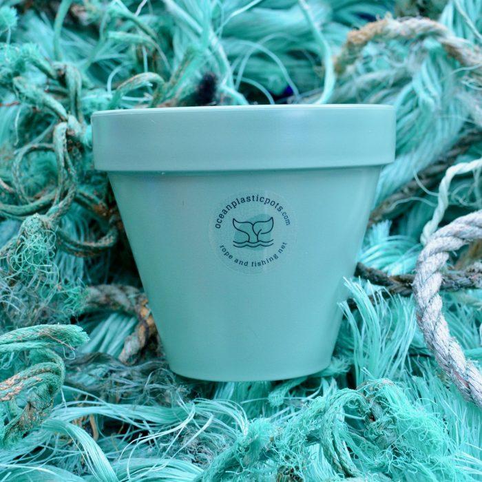 Mint Green Ocean Plastic Pot